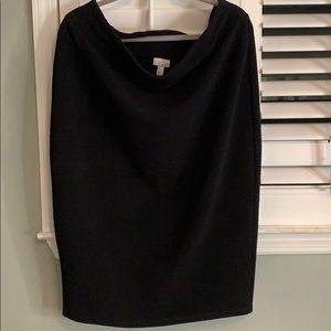 Plus size Black stretch skirt